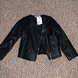 Girl's Faux Leather Jacket